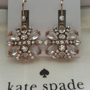 BRAND NEW KATE SPADE CRYSTAL DROP EARRINGS MINT